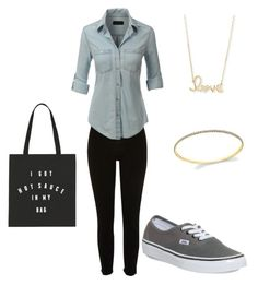 """""""Untitled #3"""" by lpcostello ❤ liked on Polyvore featuring Vans, LE3NO and Sydney Evan"""