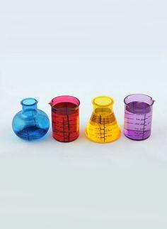 Want!!!!  Chemistry Set Shot Glass Set  Via Laughing Squid