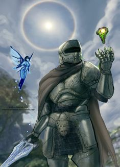 Comparing this to Master Chief's armor, this is an interesting translation of powered armor to medieval or fantasy type armor. Halo Master Chief, Master Chief Armor, Master Chief And Cortana, Fantasy Character Design, Character Art, Halo Armor, Halo Spartan Armor, Halo 3 Odst, Halo Funny