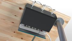 Plug Hub - Your Desk, Untangled. Keep your cords clean and concealed with Plug Hub, an under-desk cord management station that hides your power strip and cords in one discreet unit. Range Cable, Panel Lcd, Electrical Cord, Electrical Outlets, Cord Organization, Organizing Ideas, Cord Management, Classroom Management, Cable Organizer