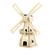 Puzzle Wood Windmill Model DIY Solar Power Waterwheel Building Educational Toys Wooden Puzzle Architecture for Kids&Adult Diy For Kids, Gifts For Kids, Kit Solar, Solar Powered Toys, 3d Puzzel, Wooden Jigsaw Puzzles, Woodworking Projects For Kids, Diy Funny, Le Moulin