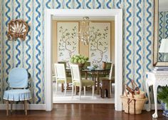 In this post – Toile de Nantes by Pierre Frey I have been thinking about wallpapering a few rooms in my house and I cannot get… Decor, Home, House Design, Pierre Frey, Beautiful Bedrooms, Interior Design, House Interior, Room, Dining