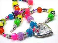 Girls Gift, Sterling Silver Plate, Hinged, Double Sided for Pictures, Lovely Sparkling Rainbow Colored Beads Just For Your PRINCESS!!! Hand Crafted by Chris of ChildWithStyle, $27.75