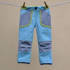 Dětské softshellové kalhoty s kapsami - fotonávod a střih pro děti 1 až 9 let.