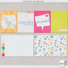 Free Bye Bye 2013 Journal and Filler Cards from Dunia Designs