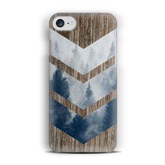 Chevron Wood iPhone 7 Case For iPhone 6s Plus Case,iPhone 6s Case,iPhone 5/5s Case,Chevron Forest Wood,iPhone SE Case Wooden iPhone 7 Case by CaseLoco on Etsy