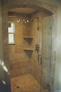 Contemporary Master Bathroom Neutral Travertine Tile Oil Rubbed Bronze Fixtures Frameless