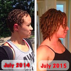 Are you considering locs but do not know what to expect in terms of growth? Are you are newly loc& wondering where you will be in one, two, or ten years? Whatever your situation, here are twe… Short Locs Hairstyles, Black Women Hairstyles, Pretty Hairstyles, Hairstyles 2016, Wedding Hairstyles, Long Dreads, Natural Dreads, Small Dreads, Make Up Tools