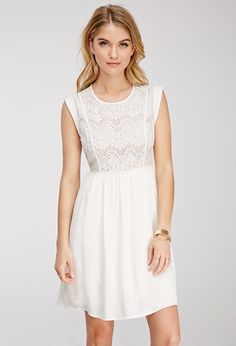 Eyelash Lace Combo Dress