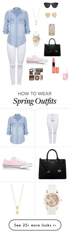"""perfect shopping outfit"" by rita-moo on Polyvore featuring Lipsy, maurices, Smoke & Mirrors, Casetify, Jennifer Zeuner, Kate Spade, Aéropostale, MICHAEL Michael Kors and Converse"