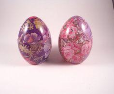 Purple Pasley Egg Trinket boxes lid opens by MissPattisAttic