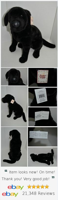 "E&J Classics Black Lab Labrador Plush Large Realistic Stuffed Dog NEW 24"" http://stores.ebay.com/Lost-Loves-Toy-Chest"