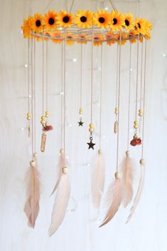 Summer Daze Dreamcatcher Chandelier Diy Craft Projects, Fun Crafts, Diy And Crafts, Arts And Crafts, Dream Catcher Mobile, Dream Catchers, Inka, Boho Nursery, Baby Kind
