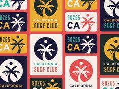 California Surf Club by Justin Vinalon Club Design, Logo Design, Graphic Design, Malibu Surf, California Surf, Line Icon, Beach Club, Surfing, Branding