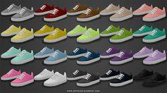 Basic Skater Shoes - Teen to Elders ~ Onyx Sims