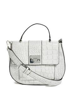 Cali Croc-Embossed Bag