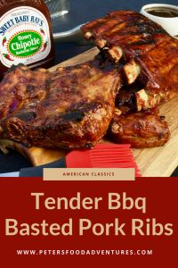 Delicious Ribs, Boiled then Smothered in Barbecue Sauce before Grilling. Saves Time And Adds Flavour! Bbq Pork Ribs Recipe