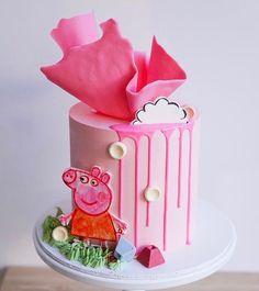 Birthday Cake Girls, Birthday Cakes, Girl Cakes, Bakery, Fruit, Desserts, Food, Chocolate Buttercream, Peppa Pig