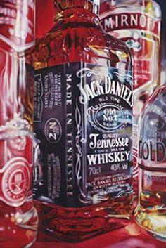 Kate Brinkworth - Tennessee Gold, 2010, Oil on canvas (Jack Daniels - Smirnoff )