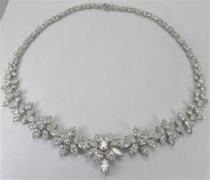 Elegant diamond necklace thumbnail 2
