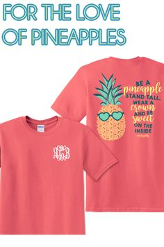 One of our favorite sweet summertime shirts! HURRY and get yours today- they are going fast! #monogram #monograms #monogrammed #pineapple #summer #fashion