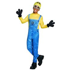 Despicable Me Minion Dave Boys' Deluxe Costume M (7-8), Multicolored