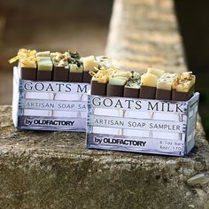 One of our most popular products, our goats milk soap sampler #oldfactory #oldfactorysoap #sampler #shopsmall #skincare #feedyourskin
