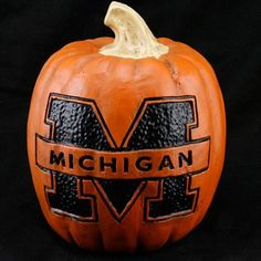 Michigan Wolverines 12'' Resin Decorative Pumpkin