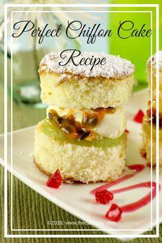 The Perfect Chiffon Cake Recipe #cake #cakerecipe #cakeway #baking #foodporn #delicious #yummy