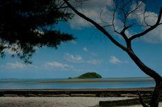 Tanjung Pendam Beach, a white sand beach in the heart of Tanjung Pandan City, Belitong, Indonesia