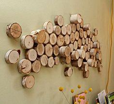Få gode ideer til hvordan du laver af lækre ting ud af træ. Et rustikt og uhøjtideligt look til indretningen.Lav dit eget sofabord, lysestage eller vægdekoration.