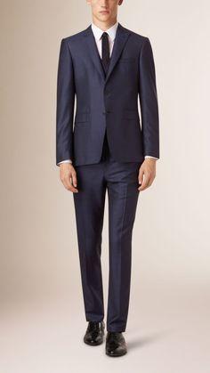 Slim Fit Wool Silk Linen Half-canvas Suit