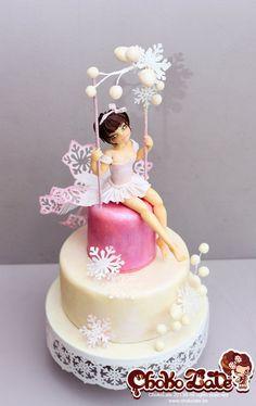 Swing Winter Bird Cake by ChokoLate
