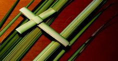 Easy to follow video and diagram showing how to How To Make A Palm Cross