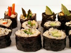 Non-Traditional Sushi (Brown Rice and No-Rice Sushi) | recipe from FatFree Vegan Kitchen