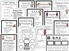 close reading planning template - close reading thieves reading strategy reading