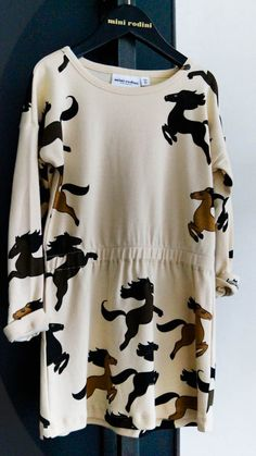 Sneak peek Mini Rodini winter 2013...  C would flip-out for this horse dress