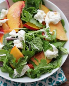 Pickled Nectarine Salad with Burrata by eatswellwithothers #Salad #Nectarine #Burrata
