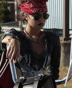 #RebelGirl #Women's Fashion #Fall Trends  Weird Goth Biker chick, I'm confused, intrigued, and amused.