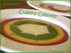 Crema de cuatro colores - Recetas Thermomix