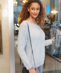 a2d50a839d090c Free Knitting Pattern for So Soft Comfy Sweater