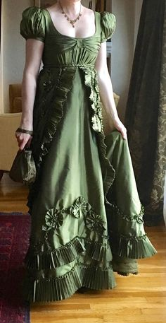 Regency-style ball gown