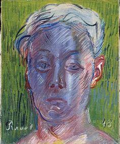 raoul dufy(1877-1953), autoportrait, 1948. huile sur toile, 27 x 22 cm. musée national d'art moderne, centre georges pompidou, paris, france