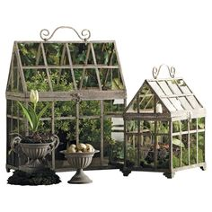 2-Piece Greenhouse Terrarium Set