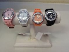Jelly Watches with Rhinestone Embellishments in assorted colors: $12.00. More colors are available. Styles and colors not guaranteed. This item is currently at our Folsom Location. Call or Email for more information. Email: polkadotsproshop@gmail.com Phone: 916-791-9070