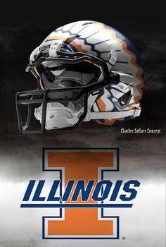 Please make this the new Illinois football helmet
