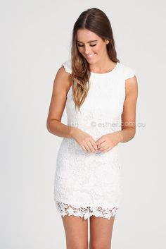 harriet lace dress - white | Esther clothing Australia and America USA, boutique online ladies fashion store, shop global womens wear worldwide, designer womenswear, prom dresses, skirts, jackets, leggings, tights, leather shoes, accessories, free shipping world wide. – Esther Boutique