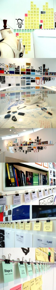 like the display using paper clipson string for the verses and the cards above and below