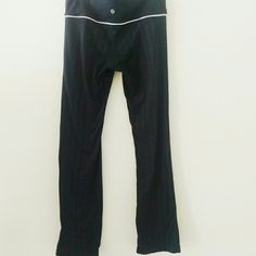 Lululemon black pinstripe active pants Perfect condition, key pocket in waistband, straight leg lululemon athletica Pants Track Pants & Joggers