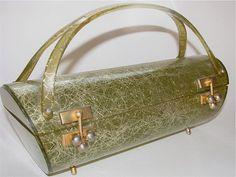Vintage 1950s Myles Lucite Atomic Design Handbag by lorimarsha, $300.00